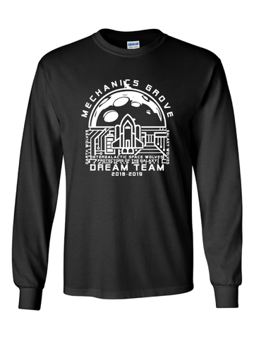 Mechanics Grove Dream Team Long Sleeve T-Shirt - Galaxy Wolves
