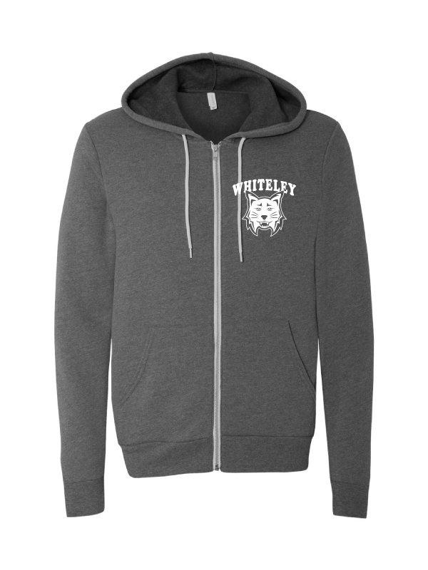 WHITELEY Unisex Poly-Cotton Fleece Full-Zip Hoodie  (Adult only)