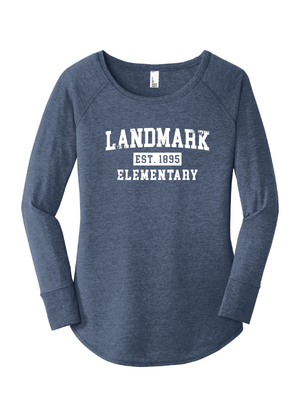 Landmark Ladies Triblend Long Sleeve Tunic Tee