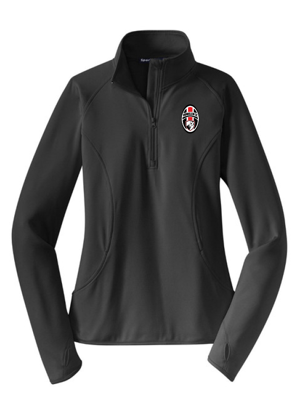 Mundelein Soccer Club Ladies Stretch 1/2-Zip Pullover