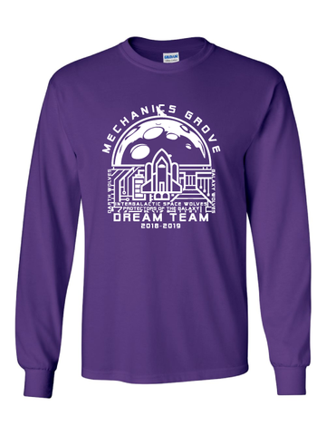 Mechanics Grove Dream Team Long Sleeve T-Shirt - Intergalactic Space Wolves, Protectors of the Galaxy
