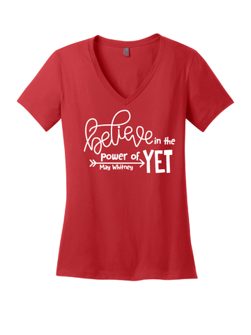 "May Whitney ""Power of Yet"" Ladies V-Neck Tee"