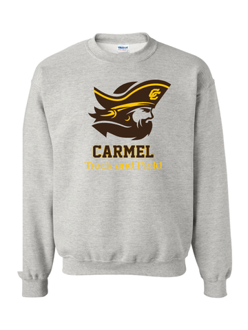 CARMEL HS TRACK & FIELD  ADULT HEAVY COTTON CREW
