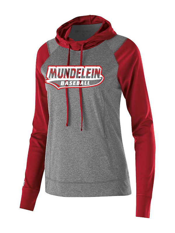 Mundelein Baseball Ladies Lightweight Hoodie