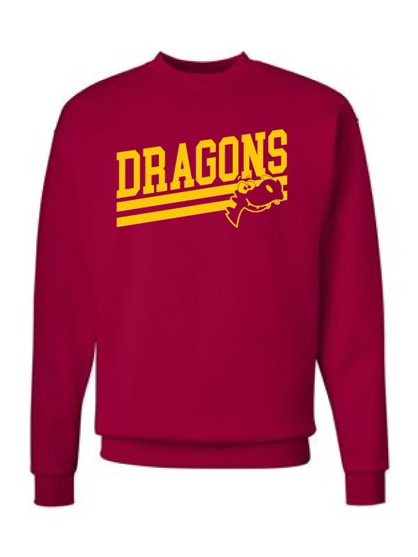 Duker School Youth & Adult Crewneck Sweatshirt Logo #2
