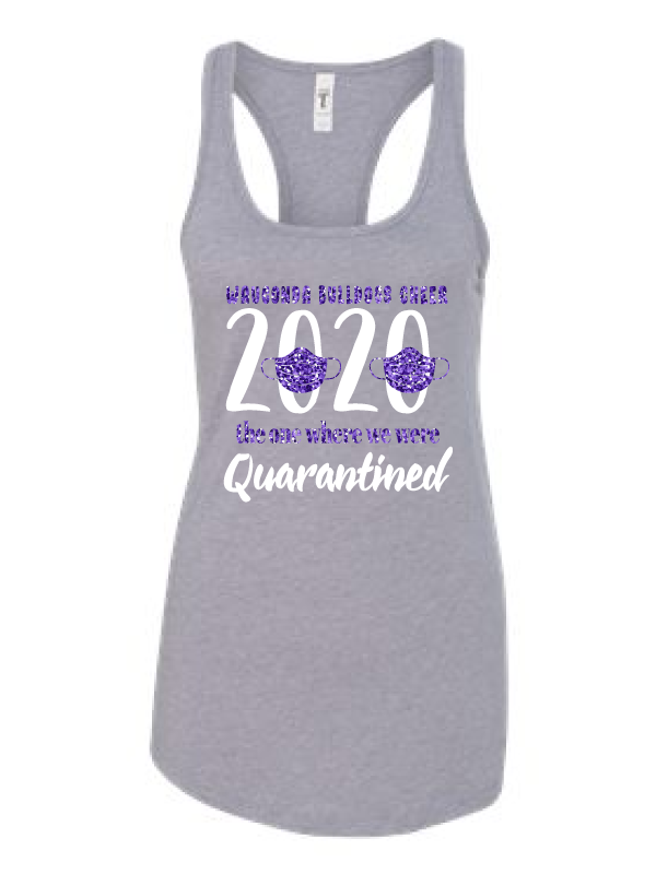 Wauconda Cheer Grey Ladies Tank