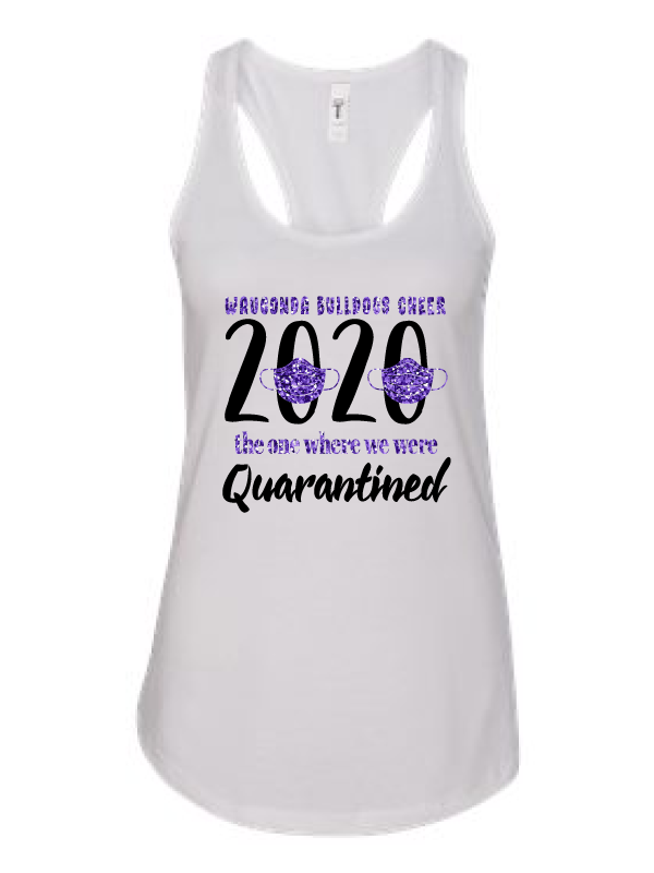 Wauconda Cheer White Ladies Tank