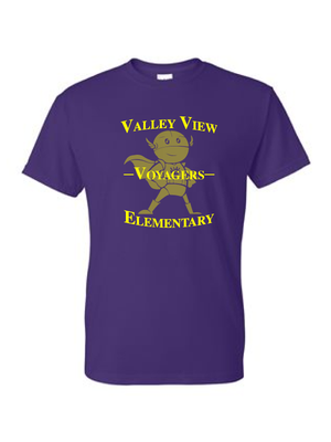 Valley View Youth & Adult DryBlend Tee Logo #1 **Multiple Colors Available**