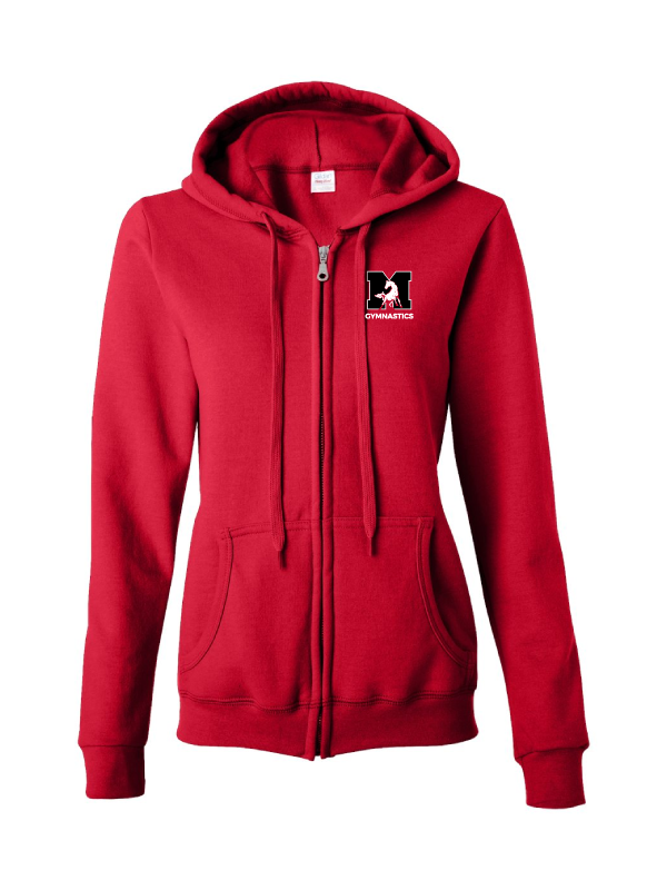 MHS Gymnastics Ladies Full-Zip Hoodie
