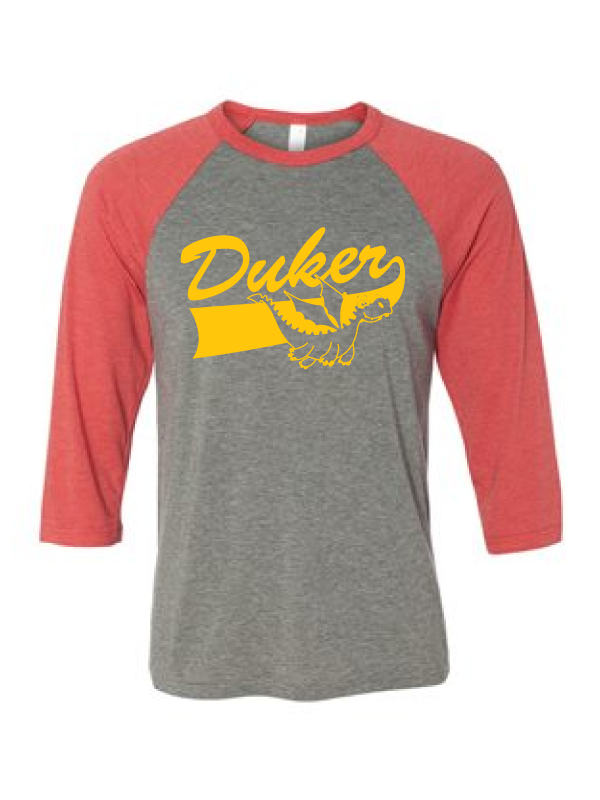 Duker School  Youth & Adult Unisex 3/4 Sleeve  Triblend Tee Logo #1