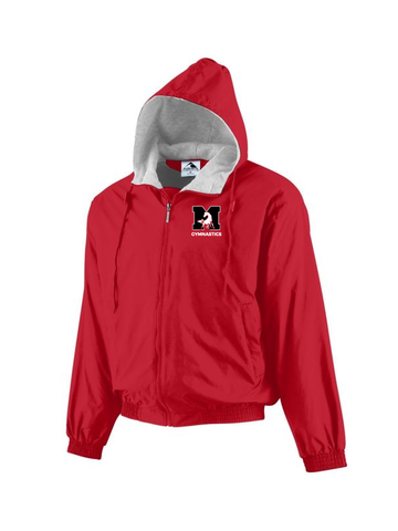 MHS Gymnastics Hooded Taffeta Jacket