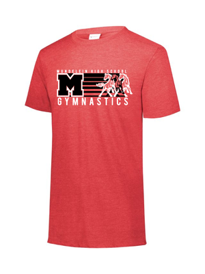 MHS Gymnastics Triblend Tee (2 Logo Options)