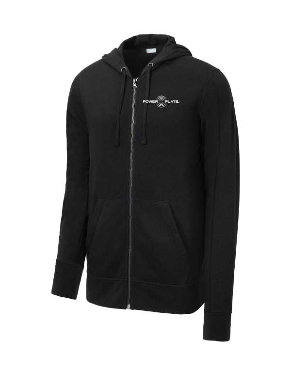 Power Plate Tri-Blend Wicking Fleece Full-Zip Hooded Jacket