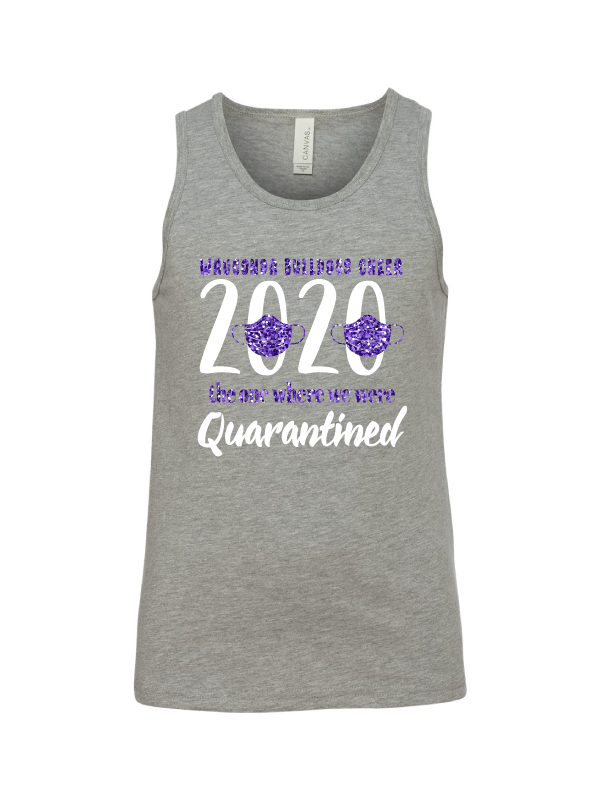Wauconda Cheer Light Grey Youth Tank