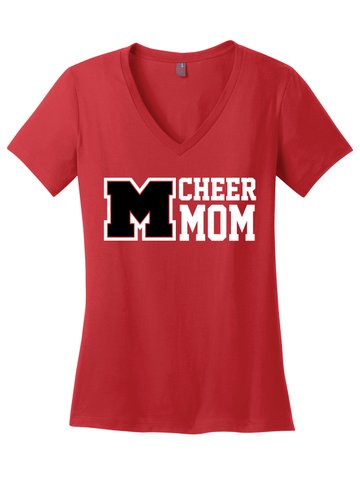 MHS Cheer Mom Vneck Tee