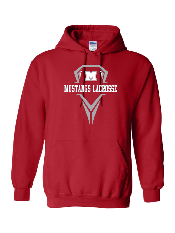 MHS Lacrosse Red Hooded Sweatshirt