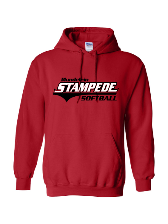 Stampede Red Hooded Sweatshirt