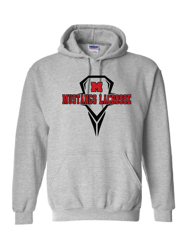 MHS Lacrosse Sport Grey Hooded Sweatshirt