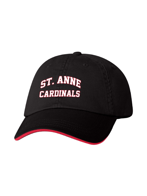 ST ANNE SCHOOL SPIRIT WEAR Unstructured Twill Cap with Sandwich Visor