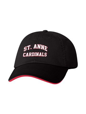 St. Anne Unstructured Twill Cap with Sandwich Visor