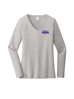 NWSRA FULL TIME STAFF Women's Very Important Tee ® Long Sleeve V-Neck