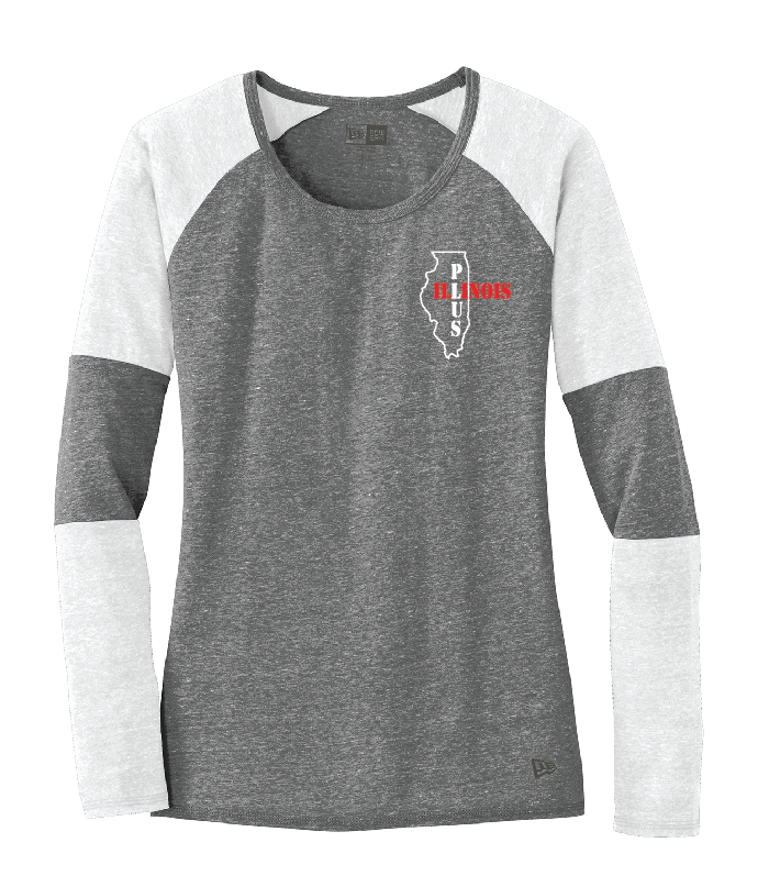Illinois Plus Ladies Tri-Blend Performance Baseball Tee