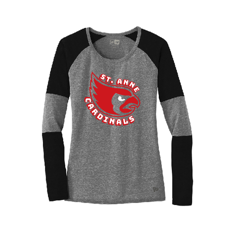 ST ANNE SCHOOL SPIRIT WEAR Ladies Tri-Blend Performance Baseball Tee