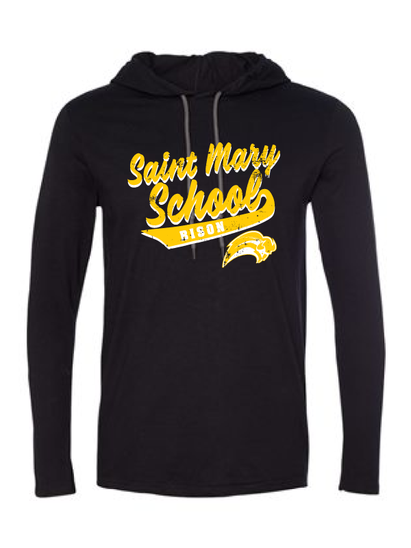 Saint Mary Fall 2020 Lightweight Long-Sleeve Hooded T-Shirt  *ADULT*    LOGO 2