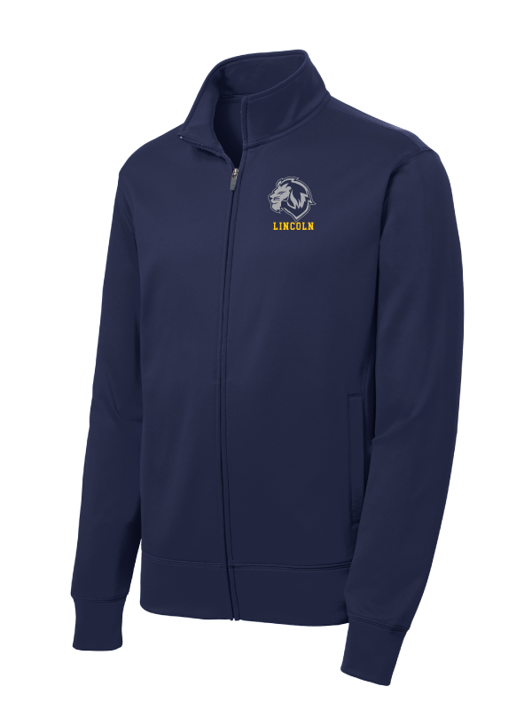 LINCOLN (D15) Adult Fleece Full-Zip Jacket  (EMBROIDERY)