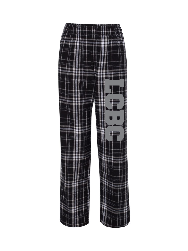LAKE COUNTY BOYS CHOIR  ADULT Black and White Flannel Pant
