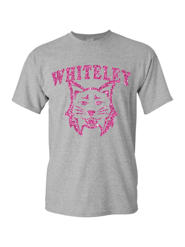 WHITELEY GLITTER Heavy Cotton Cotton T-Shirt