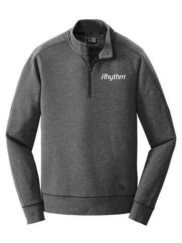 iRHYTHM New Era® MENS  Tri-Blend Fleece 1/4-Zip Pullover