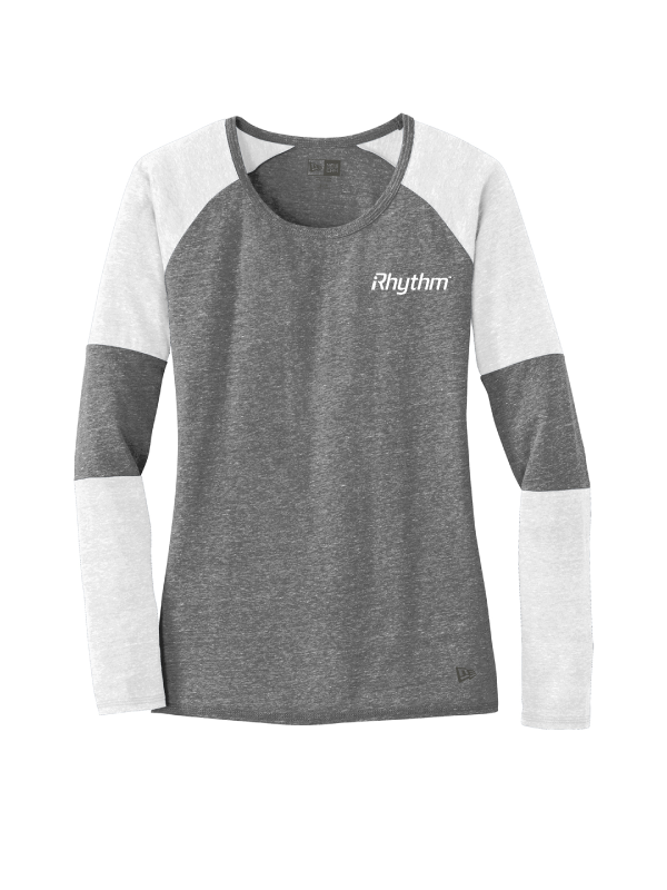 iRHYTHM New Era® Ladies Tri-Blend Performance Baseball Tee