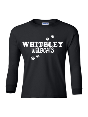 WHITELEY PAWSITIVITY LONG SLEEVE TEE  **YOUTH**