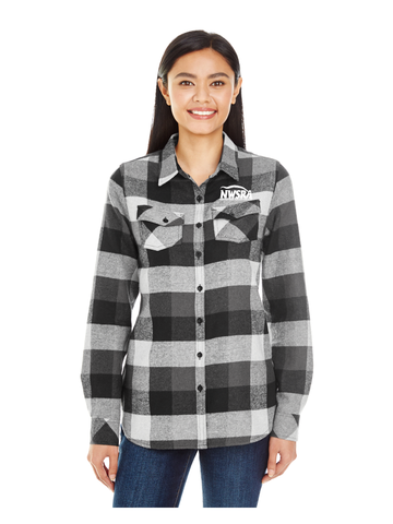 NWSRA FULL TIME STAFF Burnside Ladies' Plaid Boyfriend Flannel