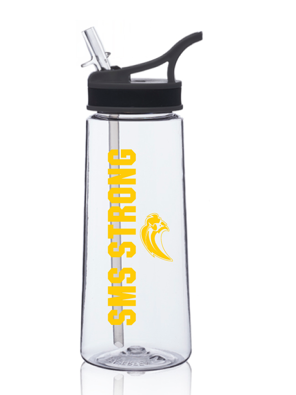 SAINT MARY 2020 	 22 oz. Sports Water Bottles With Straw