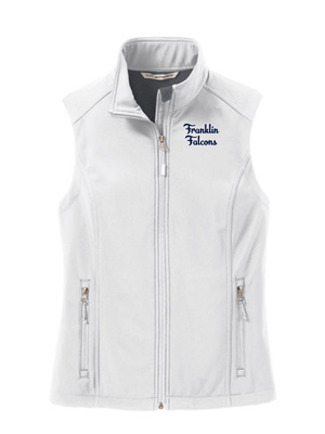 Franklin School Staff Core Soft Shell Vest  (EMBROIDERED LOGO)  **LADIES**