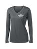 THE GYMNASTICS FACTORY  **LADIES** Long Sleeve PosiCharge® Competitor™ V-Neck Tee