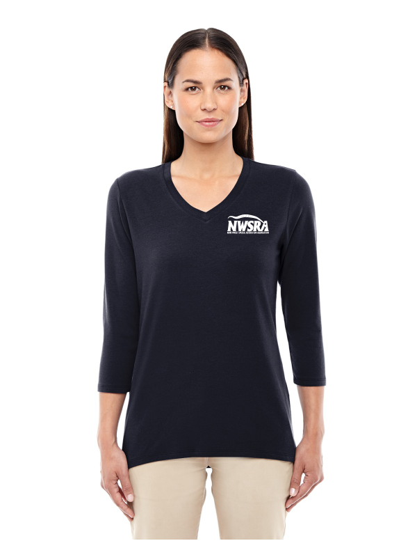 NWSRA FULL TIME STAFF Ladies' Perfect Fit Bracelet-Length V-Neck Top