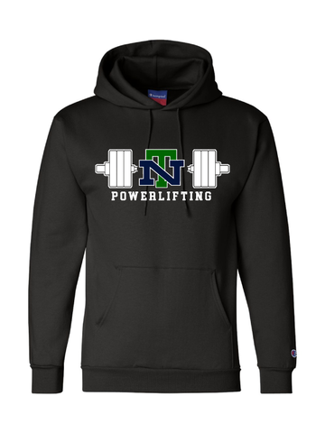 NEW TRIER POWERLIFTING BADGER HOODED SWEATSHIRT