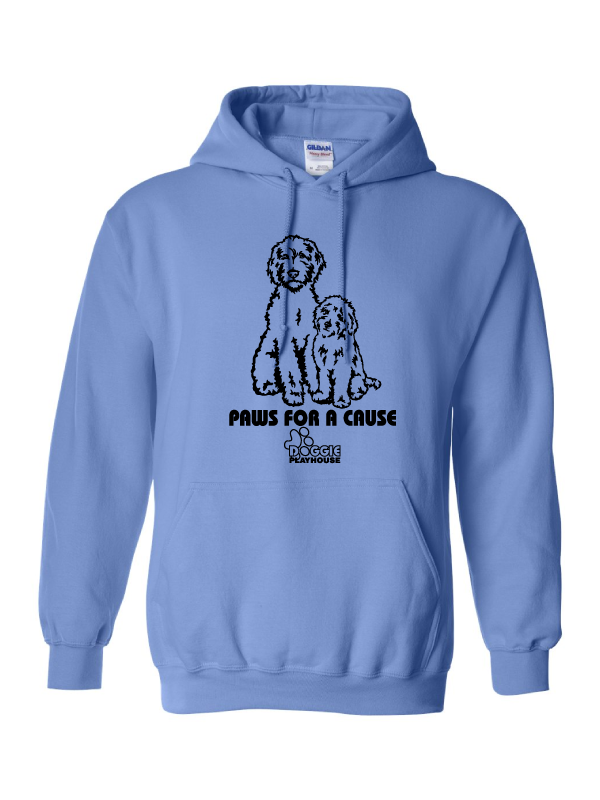 PAWS FOR A CAUSE  (DOGGIE PLAYHOUSE)  Adult Hooded Sweatshirt