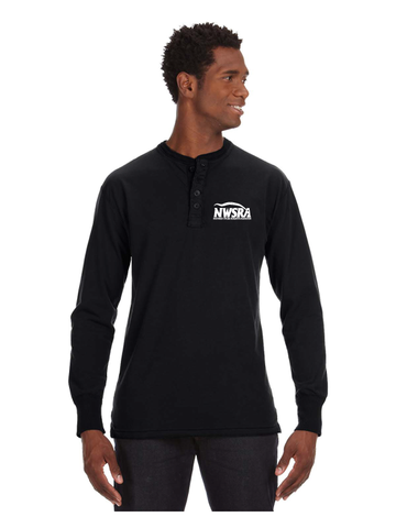 NWSRA FULL TIME STAFF  Men's Vintage Brushed Jersey Henley