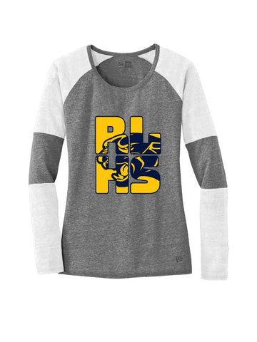 RLHS STAFF LADIES TRI BLEND PERFORMANCE BASEBALL TEE