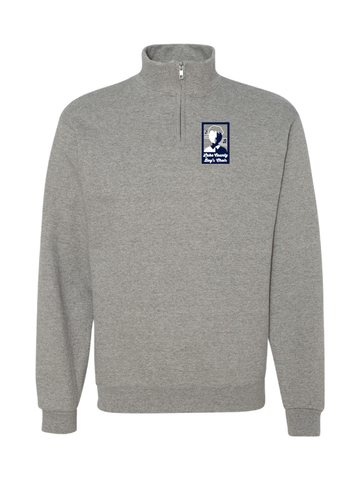 LAKE COUNTY BOYS CHOIR 8 oz. Quarter-Zip Cadet Collar Sweatshirt (ADULT AND YOUTH)
