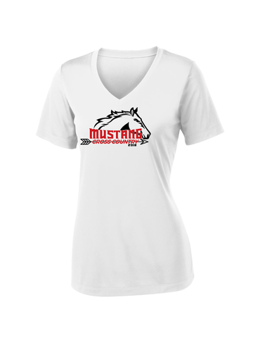 MHS XC Ladies V-Neck Performance T-Shirt