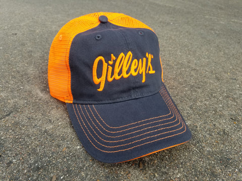 Orange Gilley's Trucker Cap