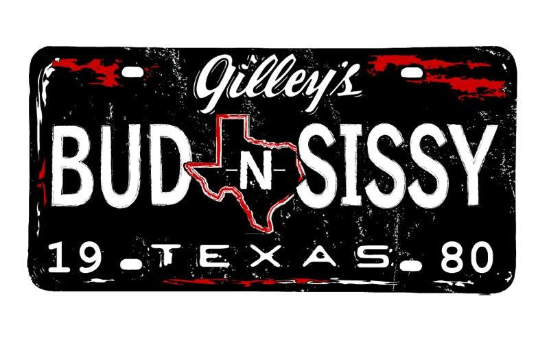 Bud n Sissy license plate