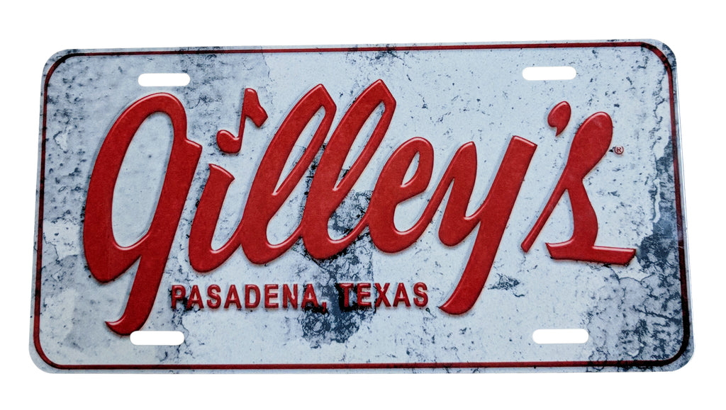 Gilley's license plate