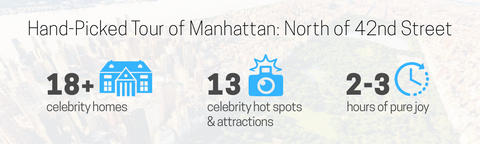 NYC celebrity homes map