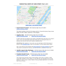 Load image into Gallery viewer, NYC Celebrity Homes Map | North of 42nd Street